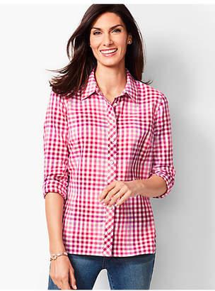 Talbots Classic Cotton Shirt - Pop Plaid