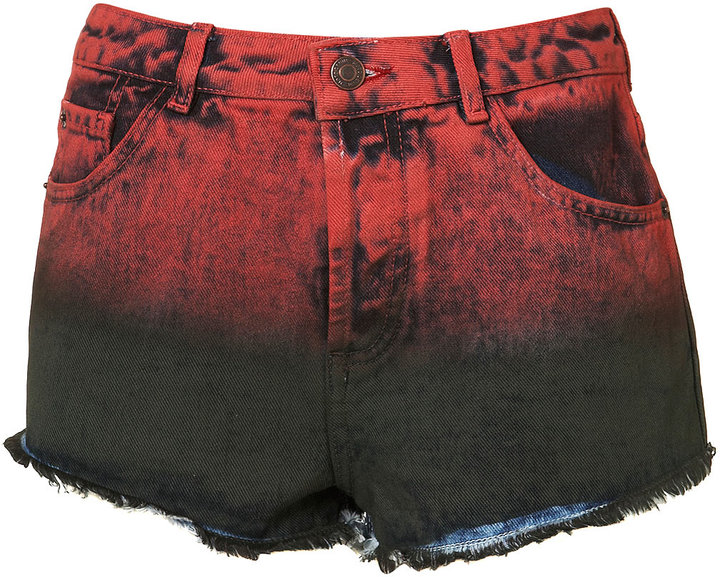 MOTO Dip Dye High Waisted Hotpants