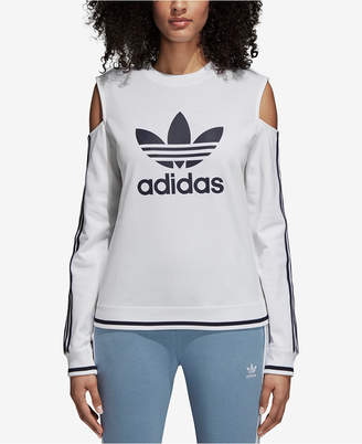 adidas Active Icons Cold-Shoulder Sweatshirt