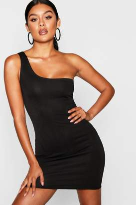 boohoo Thick One Shoulder Strap Bodycon Dress