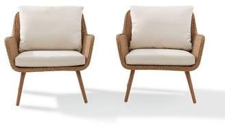Crosley Landon 2pc Outdoor Wicker Chair Set - Beige