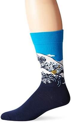 Hot Sox Men's Famous Artist Series Novelty Crew Socks
