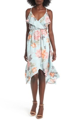 Women's Soprano Ruffle Surplice Dress $55 thestylecure.com