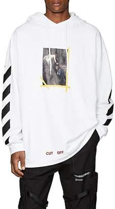 Off-White Men's Annunciation Cotton Terry Hoodie