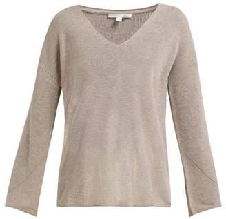 BEIGE Skin - Britta V Neck Cotton Blend Sweater - Womens