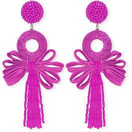 Suzanna Dai Beijing Looped Tassel Earrings