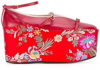 Gucci ballet flat with removable platform