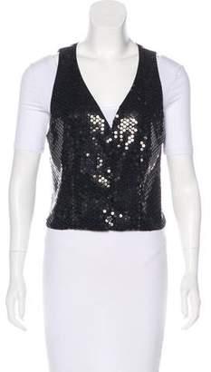 Chanel Embellished Camellia Vest