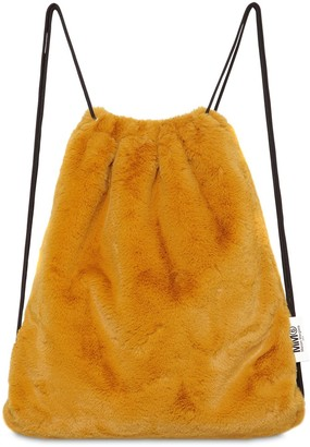 MM6 MAISON MARGIELA Faux Shearling Drawstring Backpack