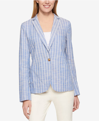 Tommy Hilfiger Long-Sleeve Striped Blazer, Only at Macy's $129.50 thestylecure.com