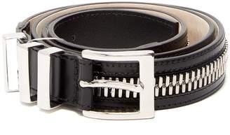 Balmain Zip-detailed leather belt