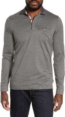 Ted Baker Dunes Slim Fit Long Sleeve Polo