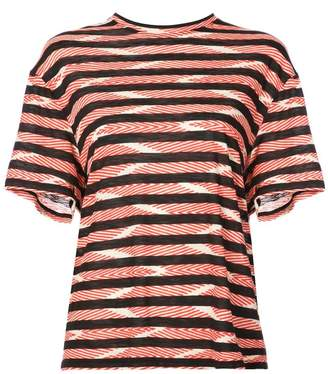 Proenza Schouler Chevron Stripe Short Sleeve T-Shirt