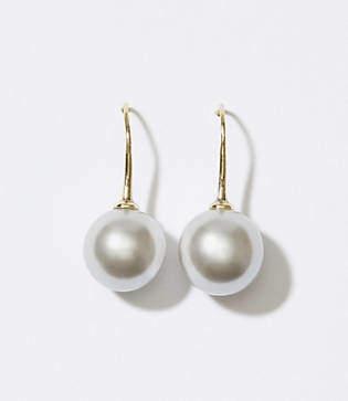 LOFT Pearlized Drop Earrings