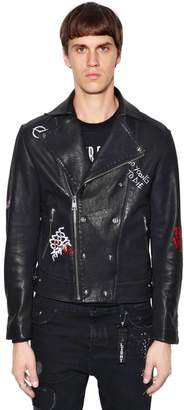 The Kooples Orlinski Co-Lab Leather Biker Jacket