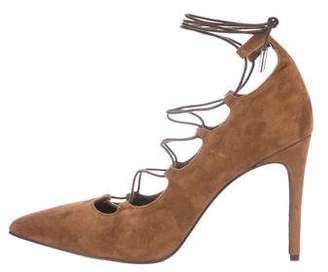 Barneys New York Barney's New York Suede Lace-Up Pumps w/ Tags