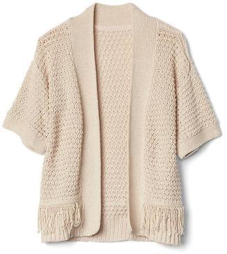 Fringe short sleeve cardigan $39.95 thestylecure.com