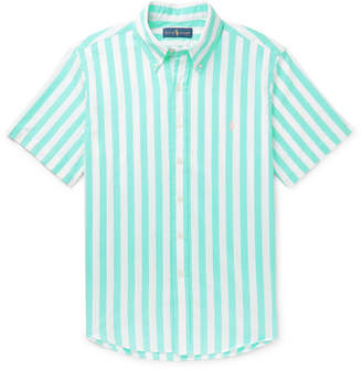Polo Ralph Lauren Button-Down Collar Striped Cotton Shirt - Men - Green