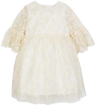 Charabia 3/4-Sleeve Lace Dress, Size 2-4