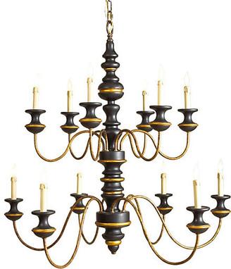 Chelsea House Stockholm 12-Light Chandelier - Black