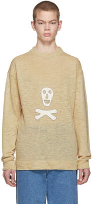 Loewe Beige Skull Sweater