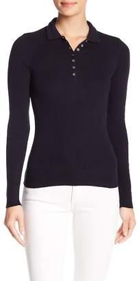 Minnie Rose Long Sleeve Ribbed Polo Shirt