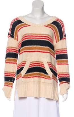 Tory Burch Distressed Striped Sweater