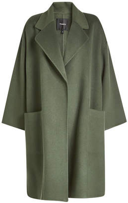 Theory Kimono Wool Coat with Cashmere
