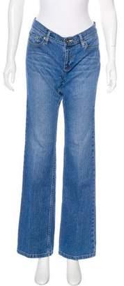 DKNY Mid-Rise Straight-Leg Jeans