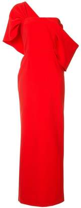 Osman Adalyn one-shoulder crepe gown