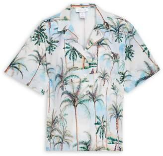 Topshop MATERNITY Hawaiian Print Buttoned Shirt