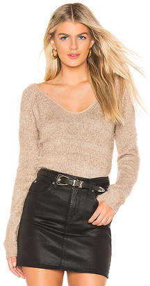 MinkPink Fernanda V Neck Sweater