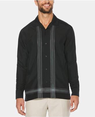 Cubavera Men's Cross Striped Linen Long-Sleeve Shirt