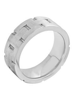 ONLINE Mens Cobalt 8MM Frozen Brick Finish Wedding Band - Mens Ring