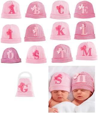 Mud Pie Mudpie Baby Girl's Initial Newbrn Hat