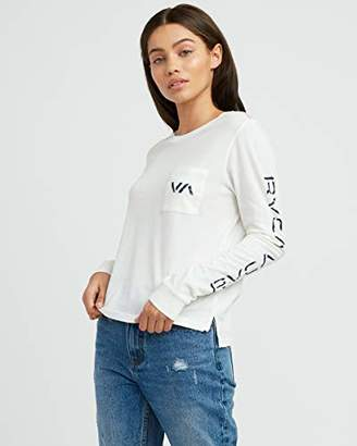 RVCA Junior's VA Spray Long Sleeve Pocket TEE