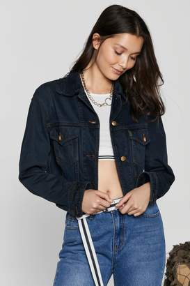 Nasty Gal After Party Vintage Short Notice Denim Jacket