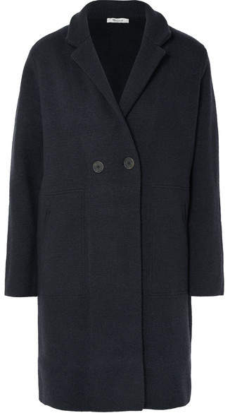 Madewell - Bellflower Double-breasted Wool-blend Coat - Black