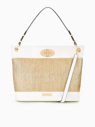 Carvela Naida Raffia Tote Bag - Gold