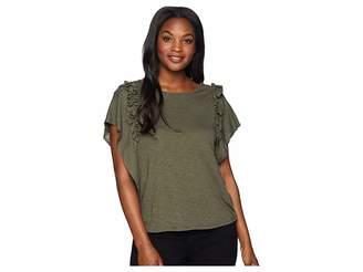 CeCe Short Sleeve Tiered Ruffle Sleeve Top Women's Clothing