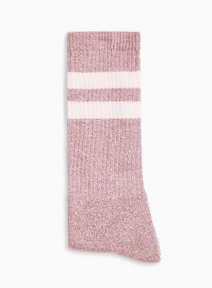 Topman Mens Red Burgundy Twist Stripe Tube Socks