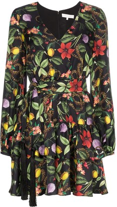 Borgo de Nor floral print tiered mini dress
