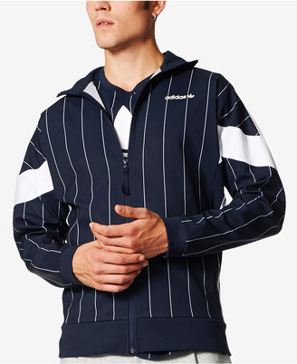 adidas Men's Originals Challenger Pinstriped Track Jacket $90 thestylecure.com