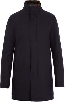 Herno Fur-trimmed high-neck wool coat