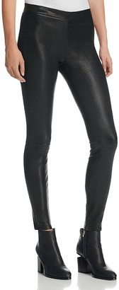J Brand Mid Rise Leather Leggings in Black $948 thestylecure.com