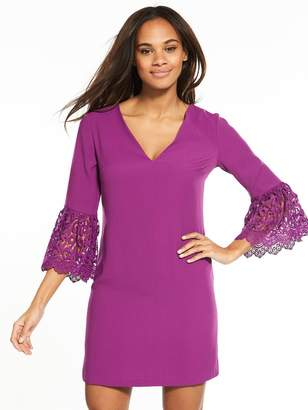 Very Lace Frill Sleeve Tunic