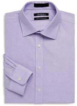 Saks Fifth Avenue Classic-Fit Nailhead Cotton Dress Shirt