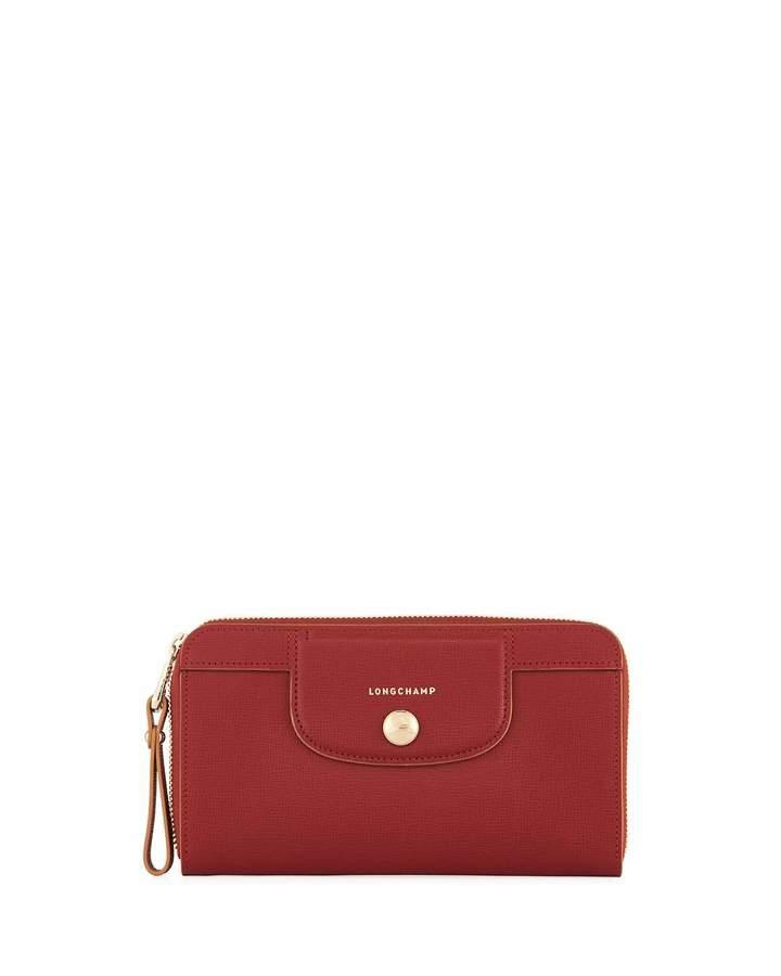Longchamp Saffiano Leather Wristlet Wallet
