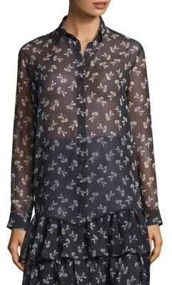 The Kooples Floral Chiffon Shirt