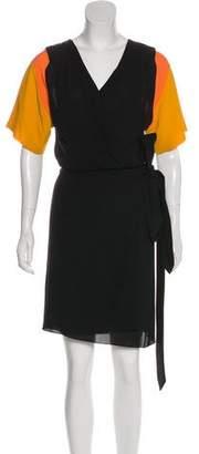 Hermes Silk Colorblock Dress
